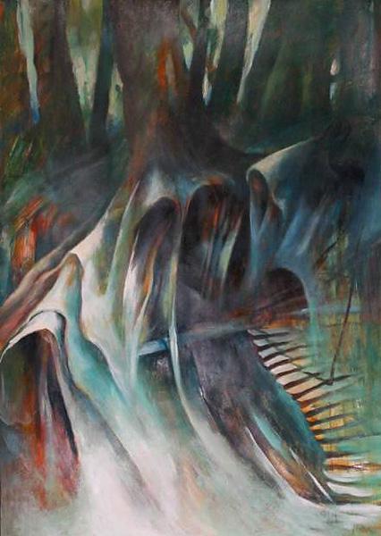 """""""Leśne tajemnice"""", malarstwo akryl"""
