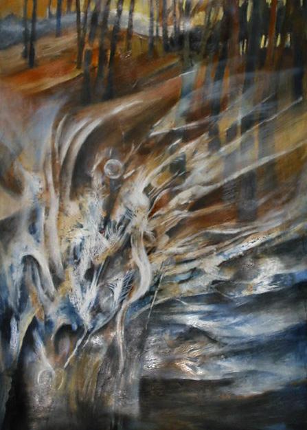 """""""Podmuchy zimy"""", malarstwo akryl"""
